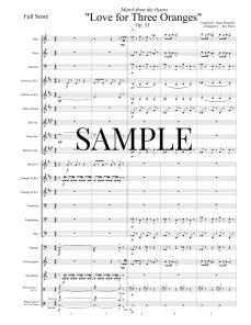 March from Love for Three Oranges FULL SCORE 001